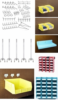 Items in Metal Pegboard Accessories
