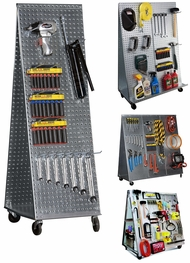 Items in Metal Pegboard Tool Cart