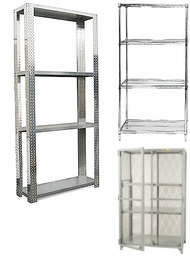 Items in Metal Shelving