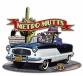 Metro Mutts Metal Sign