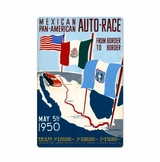 Mexican Auto Race Metal Sign