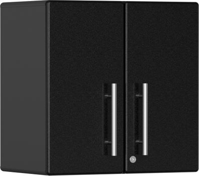 Midnight Black Metallic MDF 2-Door Wall Cabinet