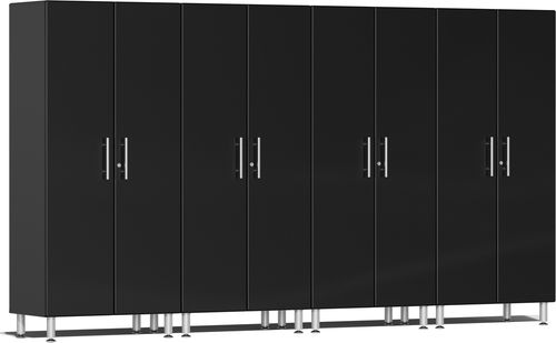 Midnight Black Metallic MDF 4-Pc Tall Cabinet Kit