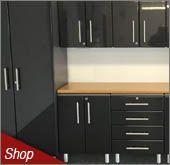 Midnight Black Metallic MDF Cabinets