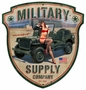 Military Supply Shield Metal Sign