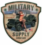 Military Supply Sield Metal Sign