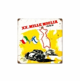 Mille Miglia Metal Sign