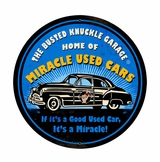 Miracle Used Cars Metal Sign