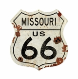 Missouri US 66 Shield Vintage Plasma Metal Sign