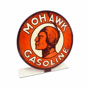 Mohawk Gas Topper Metal Sign