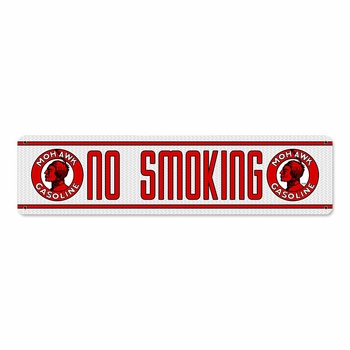Mohawk No Smoking Metal Sign