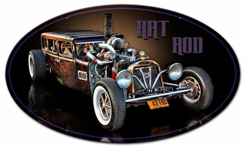 MONTANA RAT ROD OVAL Metal Sign