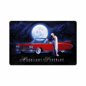 Moonlight Serenade Metal Sign