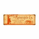 Motorcycle Company Metal Sign