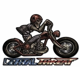 Motorcycle Skull Right Metal Sign