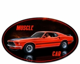 MUSCLE CAR Metal Sign