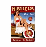 Muscle Cars Metal Sign