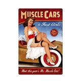 Muscle Cars Xl Metal Sign