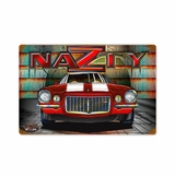 Nazty Metal Sign