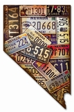 Nevada License Plates Metal Sign