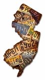 New Jersey License Plates Metal Sign