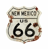 New Mexico US 66 Shield Vintage Plasma Metal Sign