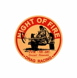 Night Of Fire Metal Sign