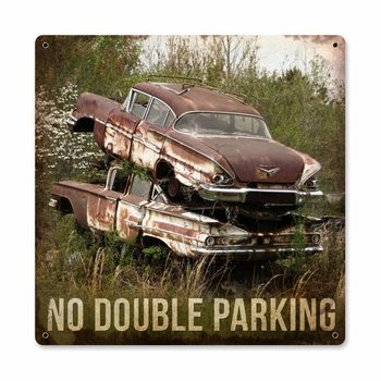 No Double Parking Metal Sign