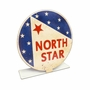 North Star Gas Topper Metal Sign