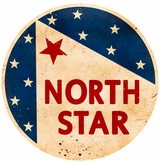 North Star Gasoline Metal Sign