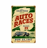 Oakland Auto Races Metal Sign