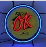 Ok Used Cars Junior Neon Sign