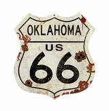 Oklahoma US 66 Metal Sign