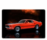 ORANGE MUSTANG MACH 1 FASTBACK CAR Metal Sign