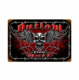Outlaw From Hell Metal Sign