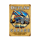 Outlaw Garage Metal Sign