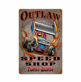 Outlaw Speed Shop Metal Sign