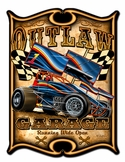 Outlaw Sprint Metal Sign
