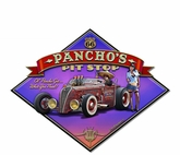 Pancho's Rt 66 Metal Sign