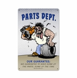 Parts Dept Metal Sign