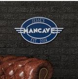 Personalized Cast Aluminum Oval Mancave Plaque