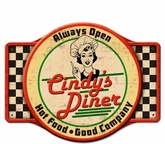 Personalized Diner Metal Sign