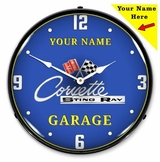 Personalized LED Lighted C2 Corvette Clock