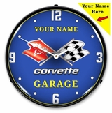 Personalized LED Lighted C3 Corvette Clock