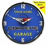 Personalized LED Lighted C4 Corvette Clock