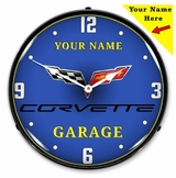 Personalized LED Lighted C6 Corvette Clock