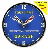 Personalized LED Lighted C7 Corvette Clock