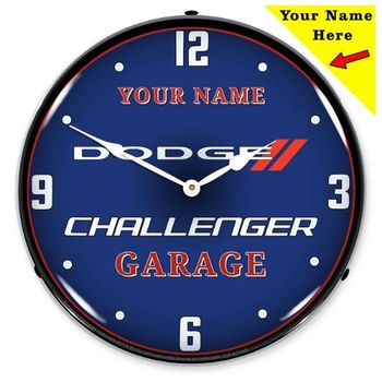 Personalized LED Lighted Dodge Challenger Clock