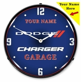 Personalized LED Lighted Dodge Charger Clock
