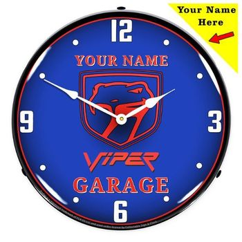 Personalized LED Lighted Gen 1 Viper Clock